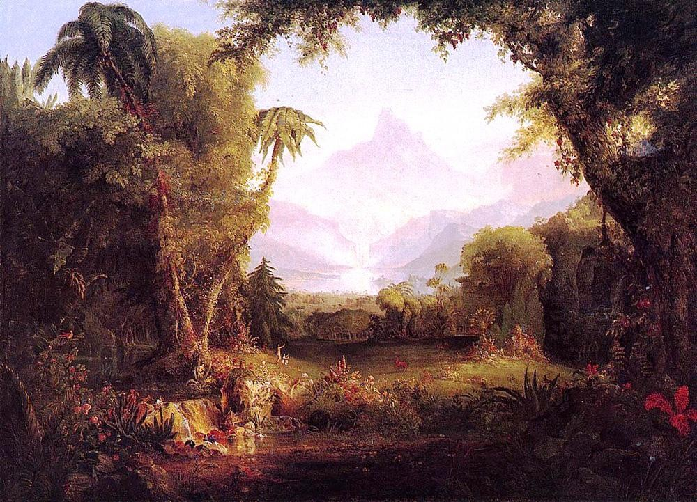 The Garden of Eden by Thomas Cole